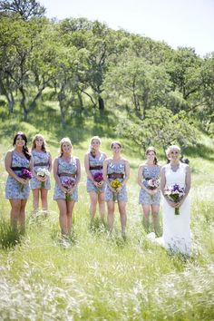 This is a really cool picture for the Bride and her bridesmaids.
