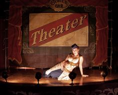 old timey theatre stage