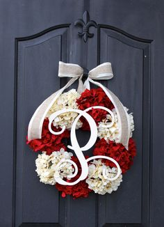 Christmas Wreath Hydrangea Wreath Wreaths for by OurSentiments on Etsy
