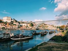 One of the most beautiful places on Earth 🌎💕 Porto, Portugal Most Beautiful, Beautiful Places, Portugal Travel, Gaia, Bridge, Pictures, Instagram, Porto, Photos