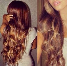 Really love this auburn to blonde ombre.