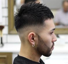 The drop fade haircut is a modern version of the popular classic fade. Just like the name implies, the drop fade haircut is cut low behind the ears, Easy Mens Hairstyles, Asian Men Hairstyle, Side Swept Hairstyles, Baddie Hairstyles, Permed Hairstyles, Asian Hair, Men's Hairstyle, Slick Back Haircut, Drop Fade Haircut