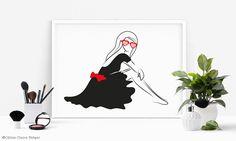 """Sunglasses"" Grafik - Céline Claire - Graphic Design & Digital Art #illustration #girl #lady #sunglasses #fashion #fashionillustration #fashionposter #poster #artprint"