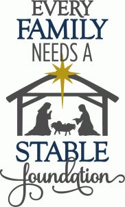 View Design #71879: every family needs a stable foundation - phrase