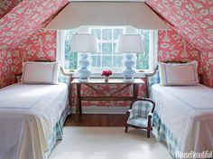"""""""Patterned wallpaper can even out awkward angles in a room and make a quirky space feel more cohesive."""""""