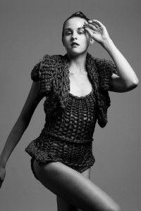 black/gold knit by Yulie Urano