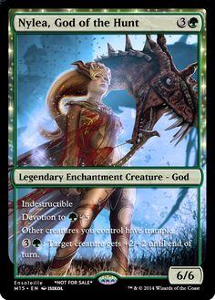 Magic the Gathering - Nylea, God of the Hunt by ASliceOfUnagi on DeviantArt