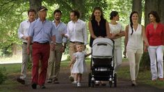 happyswedes: The Swedish Royal family has released photos ahead of the Aret med Kungafamiljen 2014, which will showcase the best videos of the royal family; l-r Chris O'Neill, King Carl Gustaf, Prince Carl Philip, Prince Daniel, Princess Estelle, Princess Madeleine with Princess Leonore in the stroller, Crown Princess Victoria, Sofia Hellqvist, Queen Silvia
