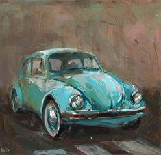 "Daily Paintworks - ""Blue Beetle"" - Original Fine Art for Sale - © adam deda"