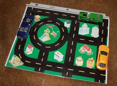 Printable Toy Car Road Map | Between 3 SistersBetween 3 Sisters. Exactly what I was looking for for our road trip with my 4 and 2 yr old boys