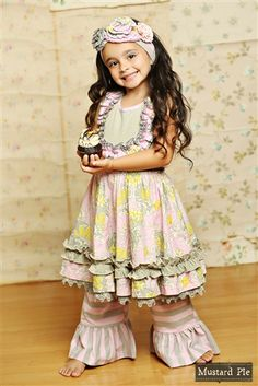 Kids Easter dress from My Little Jules  Mustard Pie Clothing Gwendolyn Twirl Dress in Sweet Pink Spring 2015 delivery 3