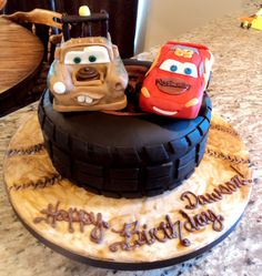 Delectable Cakes: Cars: Mater and Lightning McQueen Birthday Cake