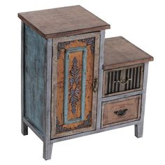 Two-drawer distressed wood accent table.   Product: Accent tableConstruction Material: WoodColor: Mult...