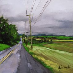 karin jurick, oil, 6x6, A Painting Today: landscape