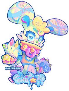 ★Gullacass♥ Cute Animal Drawings, Kawaii Drawings, Art Drawings, Character Design Animation, Character Art, Candy Gore, Pastel Goth Art, Cute Fantasy Creatures, Furry Drawing