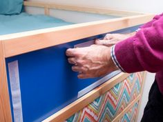 Give a basic bunk bed a custom look with do-it-yourself fabric panels and a ready-made fabric awning. Fabric Awning, Fabric Panels, Drapery Panels, Bunk Bed Canopies, Trundle Beds, Canopy, Pine Bunk Beds, Date Photo, Nightstand Plans