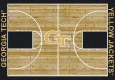 Georgia Tech GT Basketball Court Rug | eBay
