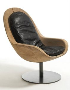 Creus Wooden Armchair by Riva