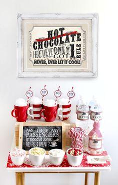 Polar Express Hot Chocolate Station by Sassaby sm