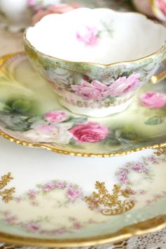Every Sunday my Nonni would have coffee after church and serve it in tea cups.  Each tea cup was more beautiful than the others.