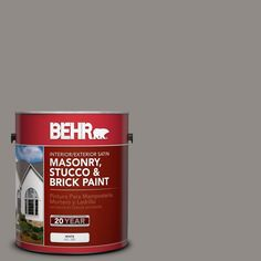 BEHR Premium 1-gal. #MS-85 Twilight Falls Satin Interior/Exterior Masonry, Stucco and Brick Paint