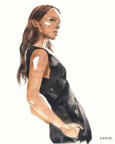 """좋아요 303개, 댓글 3개 - Instagram의 Kasiq Jungwoo(@kasiqjungwoo)님: """"watercolor on paper © kasiq . . . Alicia Vikander .. . . . . #instaart #illustrator #illustrations…"""""""