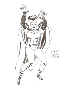 Scarlet Witch 60's - Jack Kirby Tribute by FabianBruno10