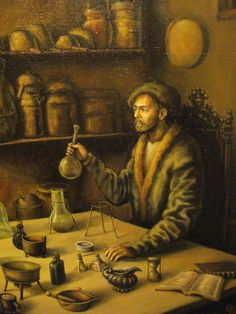 "Julia Bobrisheva's painting "" The Alchemist"" (fragment)"