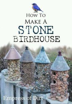How to make stone birdhouse