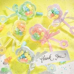Multicolor Rattles Baby Shower Favor Kit 20ct   Party City