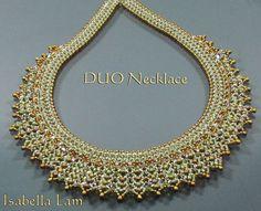 DUO KATE SuperDuo Beadwork Necklace