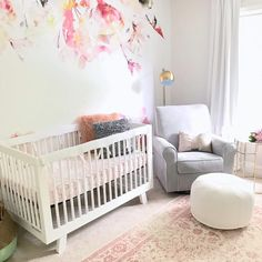 @babyletto on Instagram:  soft pink details in this sweet nursery space • #babyletto Hudson crib • : designed by @sivilizedsummer