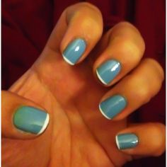 Pastel nails with French white tip