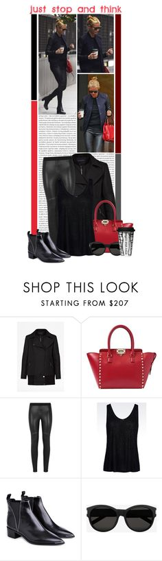 """""""#1243 (Gwyneth Paltrow)"""" by lauren1993 ❤ liked on Polyvore featuring Oris, French Connection, Valentino, BCBGMAXAZRIA, Armani Jeans, Acne Studios, Yves Saint Laurent, Dot & Bo, women's clothing and women"""
