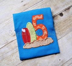 Surf birthday shirt. Ocean birthday. Beach by SimplieGirlieDesigns