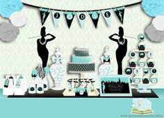 Party Printable Collection - Breakfast at Tiffany's. $35.00, via Etsy.