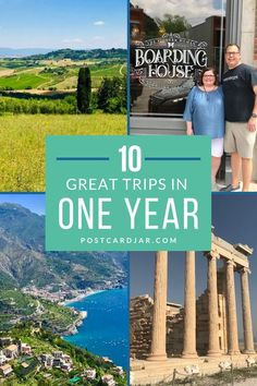 We love looking back over the last year of travel and marveling at the photos we took and the places we were able to visit. In one great year, we visited more than 10 amazing destinations on our vacations. These included bucket list spots like Athens, Greece and the Amalfi Coast in Italy. We also stayed close to home with a dream trip to The Pioneer Woman's Boarding House in Oklahoma. If you're planning a trip in the US or abroad, start with this list of favorites. #travel #planning
