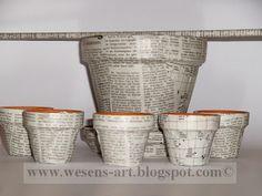 . . . Wesens-Art: dekorierte Blumentöpfe / decorated flowerpots