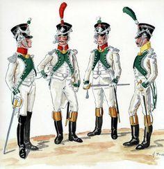 Colonnello, ufficiale dei granatieri e ufficiali dei fucilieri del regno d'Italia
