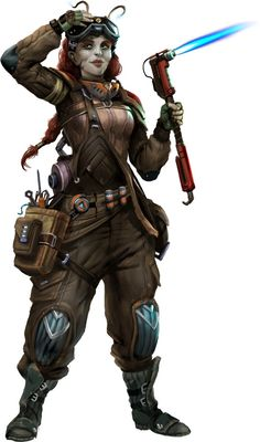 Starfinder Society and Starfinder RPG Fanbase Pirate Steampunk, Steampunk Mechanic, Character Creation, Character Concept, Character Art, Alien Character, Star Wars Characters Pictures, Sci Fi Characters, Rpg Star Wars