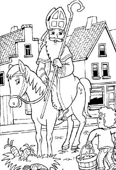 Free St Nicholas Day Coloring Pages