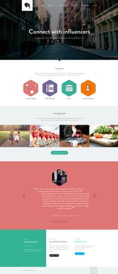 Nice, flat web design. http://tribalmedia.co.uk/