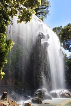 The stunning waterfall at the Château in Nice! #Nice #France #FrenchRiviera