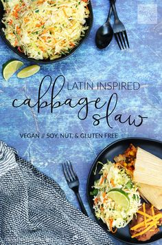 This Latin inspired Cabbage Slaw is our family's go to side dish for Taco Tuesday, enchilada nights....any time we need a quick and fresh side dish!  With just 6 basic ingredients it comes together in minutes!!!