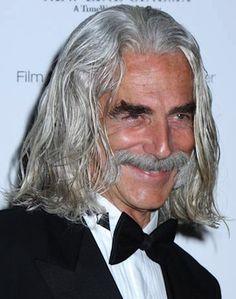 Hot Men with Long white Hair | ... handlebar mustache - Long Haired Men, Hairstyles, & Guys Growing Hair
