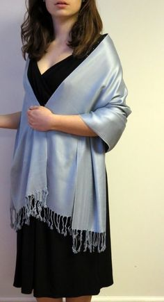 This Top of the Line Pashmina Shawl on Sale is a beautiful medium grey color, divinely silken soft Pashmina that women with a distinctive style will love for their evening occasions. Made in India Land Of Pashmina these Pashmina Shawls Wraps & Stoles Mother Daughter Trip, Red Shawl, Pashmina Shawl, Shawls And Wraps, Looking For Women, Evening Dresses, Grey, Beige, Navy Blue