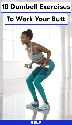 Sure, moves like squats and lunges are fantastic on their own (just your body weight is an amazing strength-training tool), but adding dumbbells can take your favorite glutes exercises from sizzle to full-on burn by adding even more resistance for your lower-body muscles to work against.