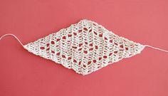 trillium scarf free triangle scarf crochet pattern from persia lou - diamond motif