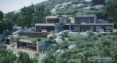 Terra Porra Villa - Designs for your home Cantilever Architecture, Green Architecture, Amazing Architecture, Architecture Design, Villa Design, Modern House Design, Mountain Villa, Waterfront Homes For Sale, Hillside House