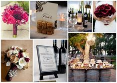 wine color theme summer wedding | Wine Inspired Wedding Decor | Afloral.com Wedding Blog